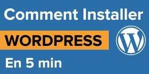 Comment installer wordpress